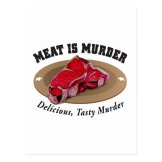 Kött är det läckra mord -, smakligt mord vykort