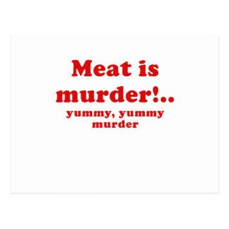 Kött är det smaskiga smaskiga mord för mord vykort