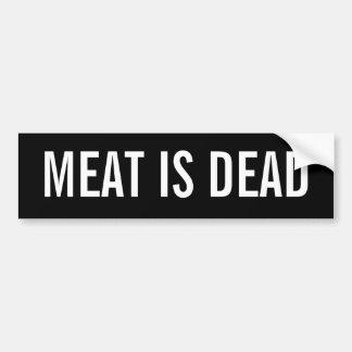 Kött är dött bildekal