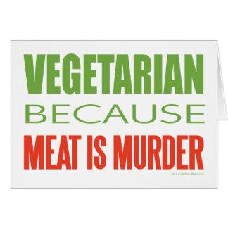 Kött är mord - Anti-Kött Hälsningskort