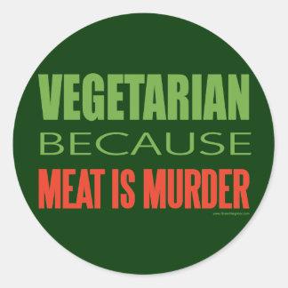 Kött är mord - Anti-Kött Runt Klistermärke