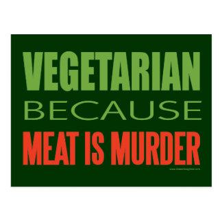 Kött är mord - Anti-Kött Vykort