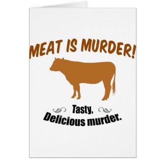 Kött är mord! hälsningskort