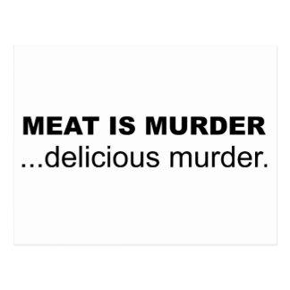Kött är mord, läckert mord vykort