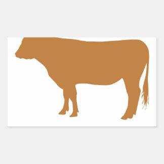 Kött är mord! rektangulärt klistermärke