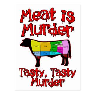 Kött är mord. Smaklig smaklig Murder. Vykort