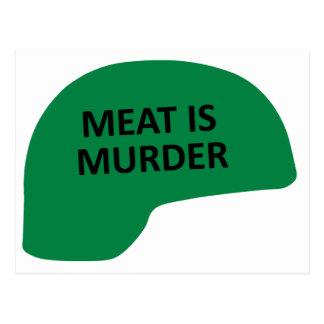 Kött är mord vykort