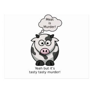 Kött är mord! Yeah men det är det smakliga Vykort