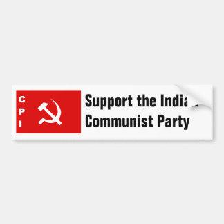 KPI-flagga kommunistparti av Indien Bildekal