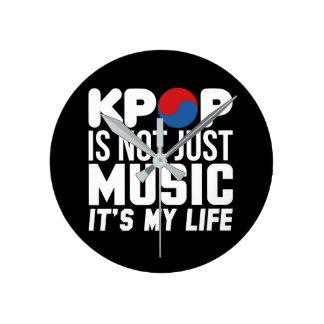Kpop är min livslogandiagram (mörk) rund klocka