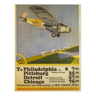 Kraftiga flygbolag vykort