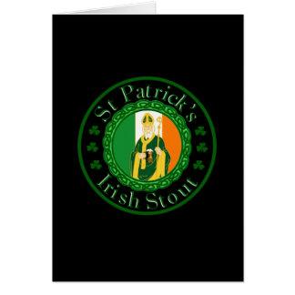 Kraftiga Sts Patrick irländare Hälsningskort