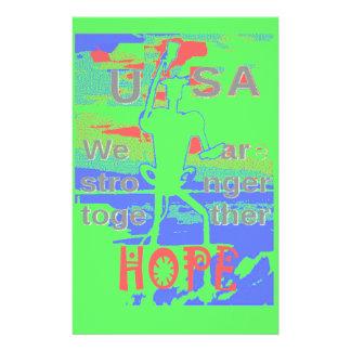Kraftigt hopp för ECO USA Hillary är vi starkare Brevpapper