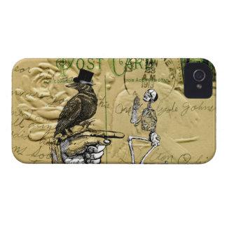 Kråka och skelett iPhone 4 case