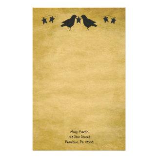 Kråka- och stjärnabrevpapper brevpapper