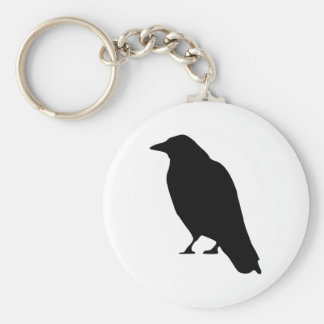KråkaSilhouette Rund Nyckelring