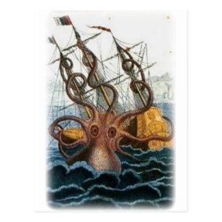 Kraken av Pierre Denys de Montfort, 1801 Vykort