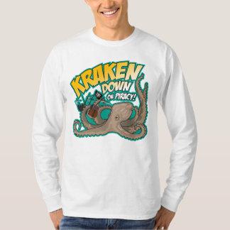 Kraken besegrar på piratkopiering t-shirt