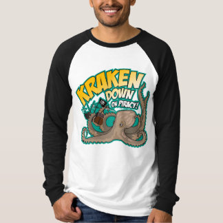 Kraken besegrar på piratkopiering t shirt