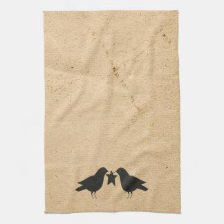 Kråkor med stjärnakökshandduken kökshandduk