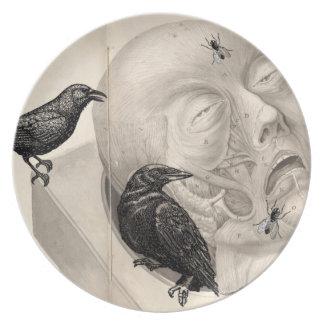 Kråkor och lik tallrik
