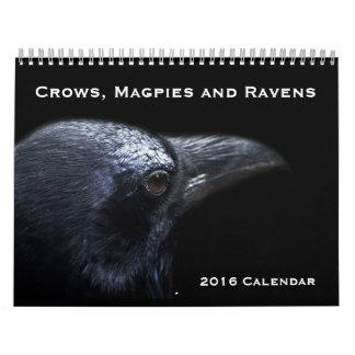 Kråkor, skator och kalender för Ravens 2016
