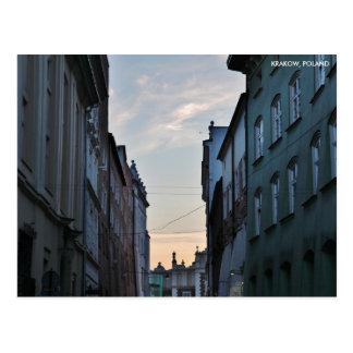 Krakow gammal Town, med stadstext Vykort