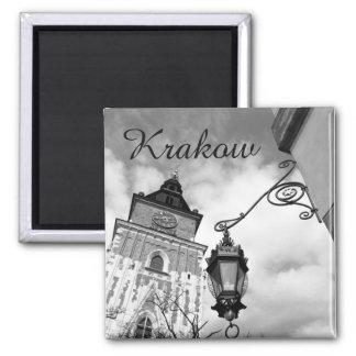 Krakow gammalt stadshus, Polen, kylmagnet Magnet