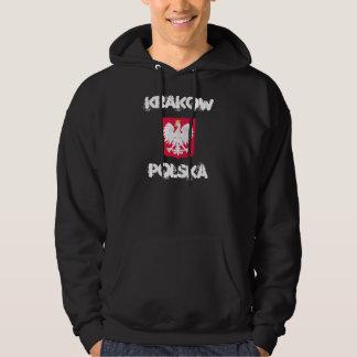 Kraków Polska, Krakow, Polen med vapenskölden Hoodie