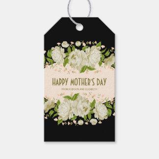 Kräm- blom- lycklig mors daggåvamärkre presentetikett