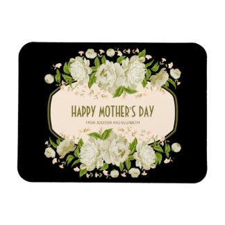 Kräm- blom- lycklig mors dagmagnet magnet