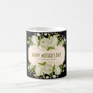 Kräm- blom- lycklig mors dagmugg kaffemugg