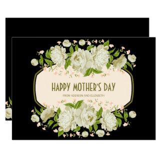 Kräm- blom- lyckligt mors dagkort 12,7 x 17,8 cm inbjudningskort
