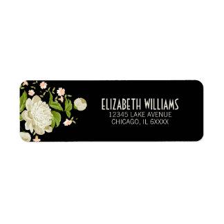 Kräm- blom- returadressetikett returadress etikett