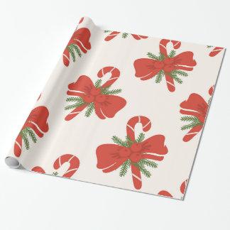 Kräm- för candy cane & elfenbenhelgdagjul för presentpapper