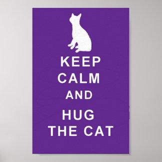 Kram för kattbehållalugn kattaffischen poster