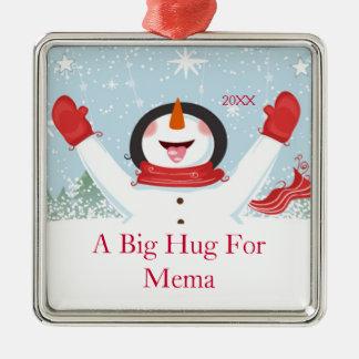 Kram för prydnad för Mema julsnögubbe Julgransprydnad Metall