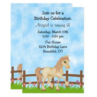 Kräm- inbjudan för häst- och