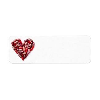 Kräm- läppstiftreturadressetikett returadress etikett