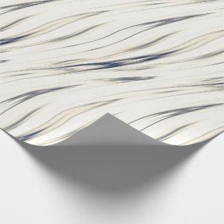 kräm och blått som växlar linjer och krusidullar presentpapper