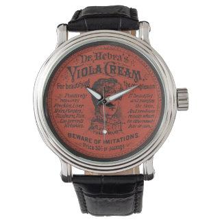 Kräm- paketera för vintageansikte armbandsur