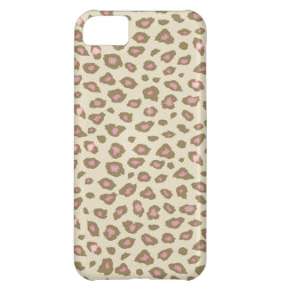 Kräm- rosa Leopardtryck iPhone 5C Fodral
