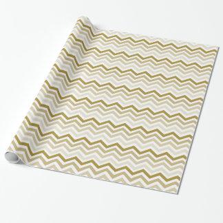 Kräm- sparre för guld presentpapper