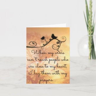Hugging You With My Prayers  Notecard