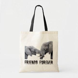 Krama för vänför evigtelefanter/som omfamnar tygkasse