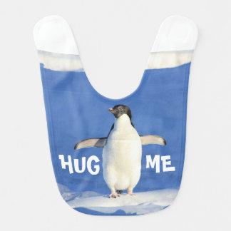 Krama mig pingvinbabyhaklappen hakklapp