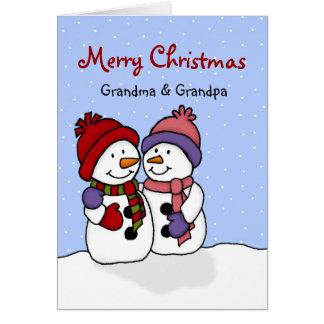 Krama snögubbejulkortet hälsningskort