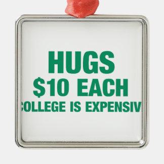 Kramar $10 each - högskolan är dyr julgransprydnad metall