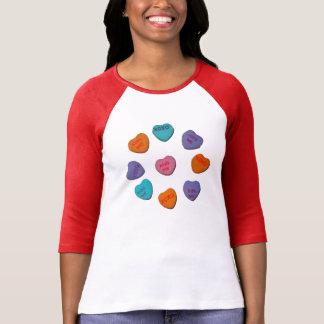 Kramar & kyssar, Bella RaglanT-tröja, vit/rött T Shirt