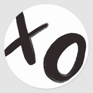 Kramar & rundaklistermärkear för kyssar XO Runt Klistermärke